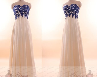 Prom Dresses Long 2017,Lace Applique Sexy Chiffon Bridesmaid Prom Dress,Sexy Evening Dress,Elegant Long Prom Dress For Teens,Sexy Prom Dress