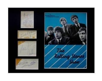 Original authentic ROLLING STONES signed 1960s autographs Mick Jagger Keith Richards Brian Jones Bill Wyman Charlie Watts