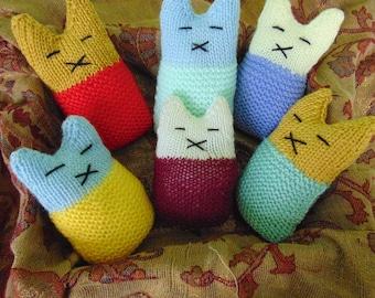 Custom Hand Knitted Lavender Lullaby Kittens