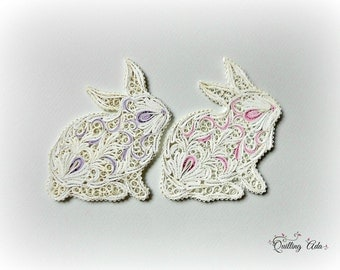 Paper Easter Bunny – Quilled Bunny – Paper Art - Quilled animals - Home Decor - Nursery Decor