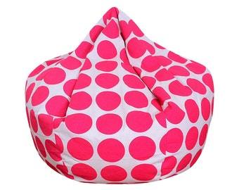 Hot Pink Dot Bean Bag Chair