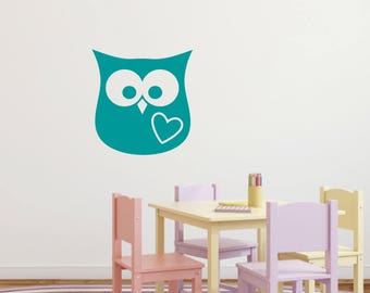 Owl Wall Decal Owl Nursery Decals Preschool Classroom Decals Animal Decals  Woodsy Decal Owl Wall Decor