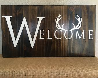 Deer sign antlers sign