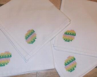 Set of Four (4) Cloth Napkins