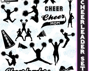 Cheerleader svg, Monogram svg files, Cheerleading svg, Cheer svg files SVG, DXF, EPS, use with Silhouette Studio & Cricut Design Space.