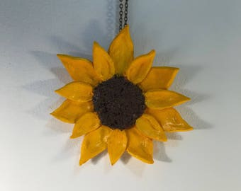 Sunflower Charm Necklace Jewelry Home Decor
