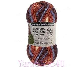 MOUNTAIN MAJESTY bulky Charisma Loops And threads, brown chunky yarn, brown bulky yarn, copper yarn, rust yarn, multi color, 100g