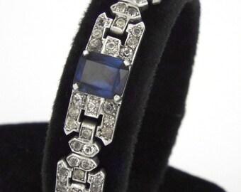 1920s - KNOLL & PREGIZER / BIRKS -  Sterling Silver Art Deco Bracelet - Germany