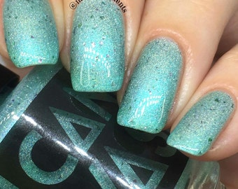 Northern Lights by CANVAS lacquer - a minty holographic