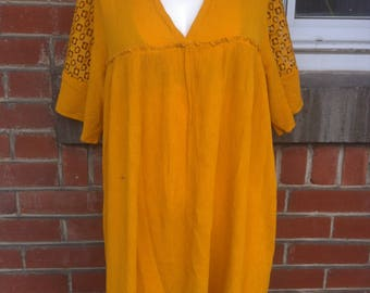 yellow tunic or short dress Large