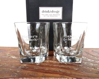 Makers mark vintage martini glasses