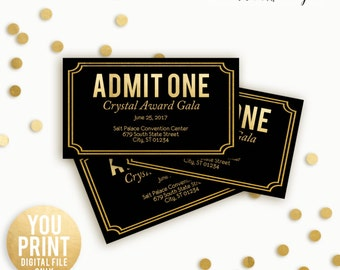 Corporate Event Ticket,  prom ticket, Corporate Party Ticket, Customized Event ticket, DIGITAL, YOU PRINT, admit one ticket, simple ticket,