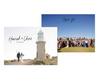 Wedding Thank You Card with Photos Custom Photo Cards Printable
