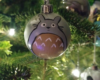 My Neighbor Totoro inspired handpainted ornament
