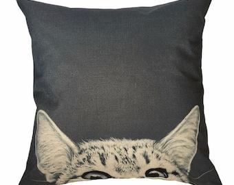 Peek-A-Boo Cat - Pillow Cover