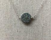 Multi Druzy Necklace // Silver Druzy Necklace // Druzy Necklace // Drusy necklace