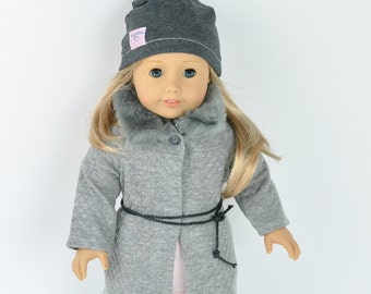 American doll clothes, 18 inch doll clothes, faschion doll clothes, dolls coat, leggins,tunik, hat, American Girl,