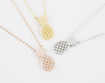 Pineapple Charm Necklace Pineapple Necklace Dainty and Simple Necklace Birthday Gift