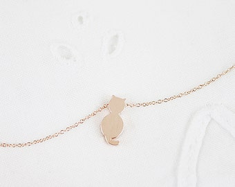 Rose Gold Charm Necklace Dainty and Simple Necklace Bridesmaid Gift