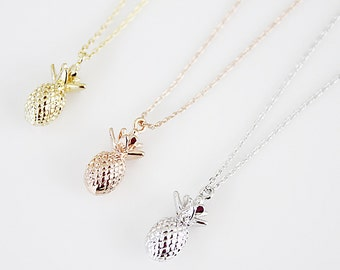 Pineapple Necklace Pineapple Charm Necklace Bridesmaid Gift Birthday Gift