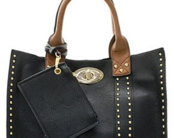Monogrammed Leather Purse Personalized 2 In 1 Ladies Hand Bag