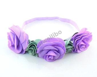 1 pcs Rose flower headband, newborn headband, Baby girls headband , Birthday headband