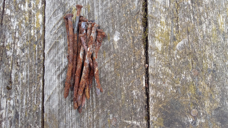 Rusty tin craft supplies -  6 20