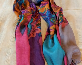 Scarf-scarf women,    beautiful colors-gift-Fashion-infinity style scarf
