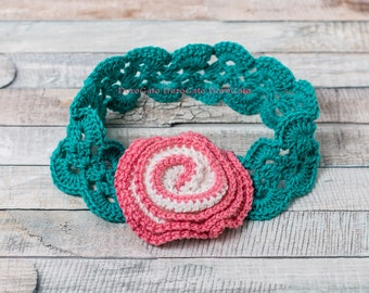 Crochet headband Pattern, Baby Girl Headband, DIY Craft, Sizes - baby to adult, Tutorial crochet pattern, Instant Download /3007/
