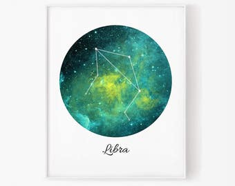 Zodiac Libra, Libra space, Space, Stars, Libra Constellation, Libra digital, Zodiac print, Zodiac Constellation, Stars constellation