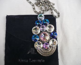 ALEXA LECOMTE Vintage french DESIGNER Runway Necklace during