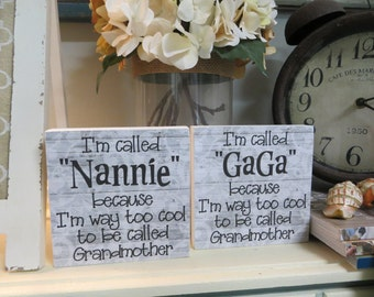 """Wood Sign, """"I'm called MIMI because I'm way too cool to be called Grandma"""", Grandma gift, Wood Grandma Sign, Grandmother Present"""