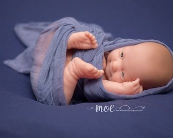 Newborn posing fabric - newborn backdrop - posing backdrop - navy blue backdrop