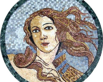 Goddes Of Love and Beauty - Mosaic Medallion