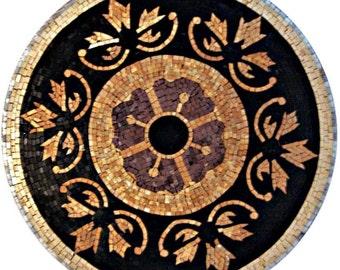 Black and Gold Medallion Mosaic