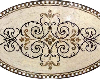 Arabesque Marble Rug Mosaic - Selma