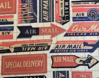 Air Mail from Correspondence by Tim Holtz for Coats
