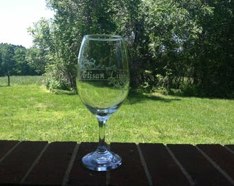 Custom Personalized Glass Etched Wine Glasses