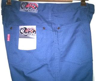 Vintage 70s nos pants Blue jeans VINTAGE 1970s PANTS ExtraLong Leg Bootcut Blue jeans bluepants S NOS jeans 70s