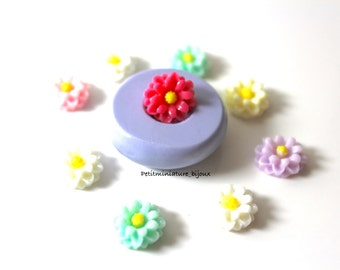 MOULD FLOWER flexible silicone mold-3d polymer clay daisy flower charm kawaii polymer clay jewelry soap plaster ST310 resin