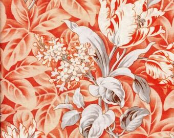 "Free Spirit Verna Mosquera ""October Skies"" Foliage Peach Fabric"
