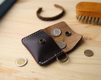 Leather coin purse, Coin Purse, Leather coin pouch, Small leather pouch, Mens coin purse, Leather coin wallet, Horween Chromexcel #8