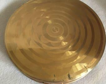 Vintage Pilcher, Large Format, Gold Compact