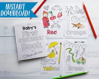 ABC Book Template DIY Alphabet Color Baby Shower Activity