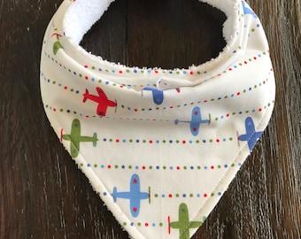Airplane bandana bib