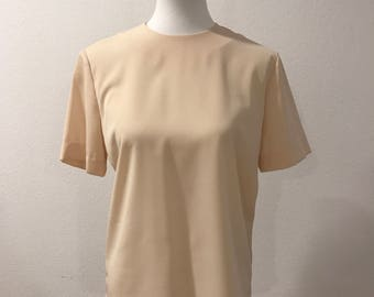 Beautiful Vintage 80's Ivory Top, Kasper And Company A.S.L, Lightweight, Size 6