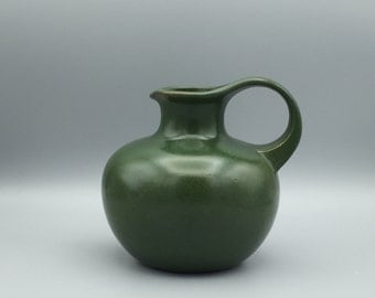 Gräflich Ortenburg 56 -15  lovely vase  1970s , green color glaze, West  German Pottery ,  Ursula Beyraw / Irene Pasinski.