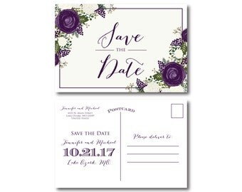 PRINTABLE Save the Date Postcard, Printable Save the Date, Wedding Save the Date, Save-the-Date, Wedding Postcard, Save our Date #CL307