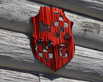 Plasma Cut Gryffindor Insignia Small Wall Art