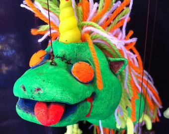 The Zombie Unicorn marionette puppet Limited Edition